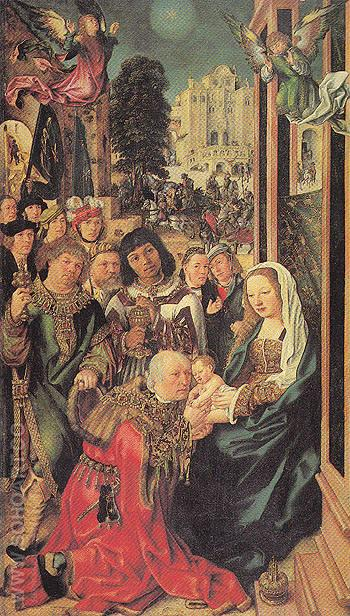 The Adoration of the Magi - Ulrich Apt The Elder reproduction oil painting