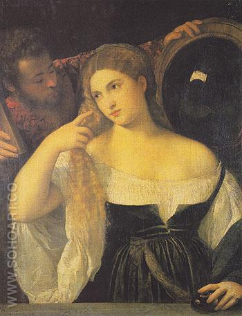 A Woman at her Toilet - Titian reproduction oil painting