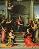 The Annunciation with St Margaret Mary Magdalen Paul John the Baptist Jerome and Francis - Baccio Della Porta reproduction oil painting