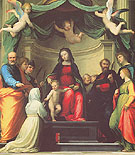 The Mystic Marriage of St Catherine of Siena with Eight St 1511 - Fra Bartolommeo