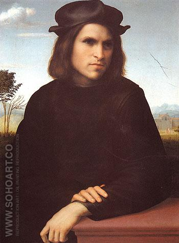 Portrait of a Man - Francesco Franciabigio reproduction oil painting