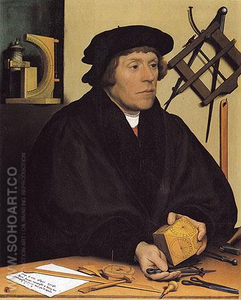Nicholas Kratzer 1528 - Hans Holbein reproduction oil painting