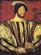 Francois I King of France - Jean Clouet reproduction oil painting