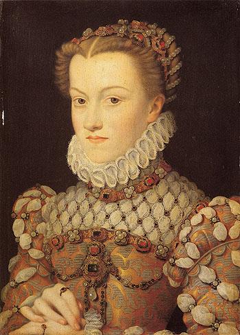 Elisabeth of Austria Queen of France - Francois Clouet reproduction oil painting