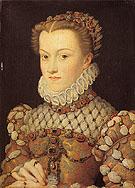 Elisabeth of Austria Queen of France - Francois Clouet