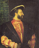 Francois I King of France 1538 - Titian reproduction oil painting