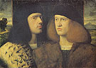Portrait of Two Young Men - Giovanni Cariani reproduction oil painting