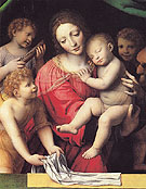 The Virgin Carrying the Sleeping Child with Three Angels - Luini