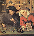 The Moneylender and His Wife - Quentin Metsys