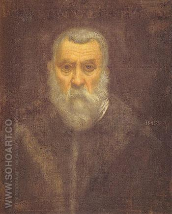 Self Portrait - Jacopo Tintoretto reproduction oil painting