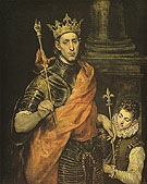 St Louis King of France with a Page - El Greco reproduction oil painting