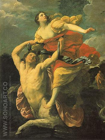 Deianira Abducted by the Centaur Nessus 1620 - Guido Reni reproduction oil painting