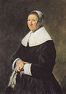 Portrait of a Woman - Frans Hals reproduction oil painting