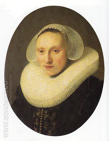 Cornelia Pronck Wife of Albert Cuyper 1633 - Rembrandt Van Rijn reproduction oil painting