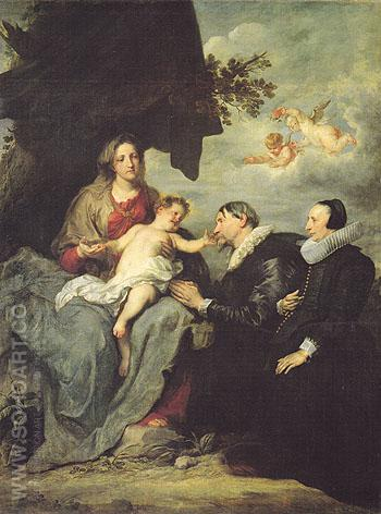 The Virgin and Child with Donors - Van Dyck reproduction oil painting