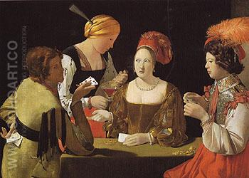 The Cheat with the Ace of Diamonds - George de la Tour reproduction oil painting