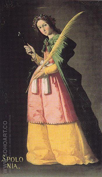 St Apollonia - Franciso De Zurbaran reproduction oil painting