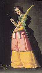 St Apollonia - Franciso De Zurbaran