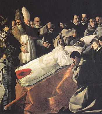 The Lying in State of St Bonaventure - Franciso De Zurbaran reproduction oil painting