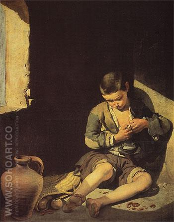 The Young Beggar - Bartolome Esteban Murillo reproduction oil painting