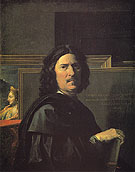 Self Portrait 1650 - Nicolas Poussin reproduction oil painting