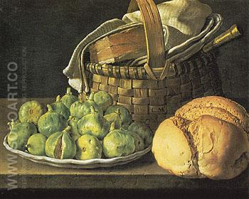 Still Life with Figs - Luis Melendez reproduction oil painting