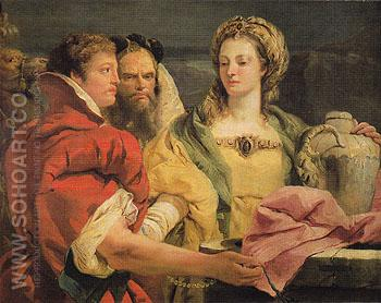 Rebecca at the Well - Giovanni Barrista Tiepolo reproduction oil painting