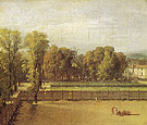 View of the Garden of the Luxembourg Palace 1794 - Jacques Louis David reproduction oil painting