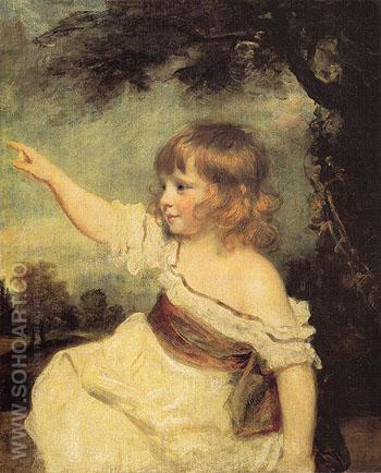 Master Hare c1788 - Sir Joshua Reynolds reproduction oil painting