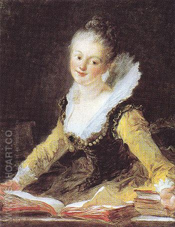 A Study - Jean-Honore Fragonard reproduction oil painting