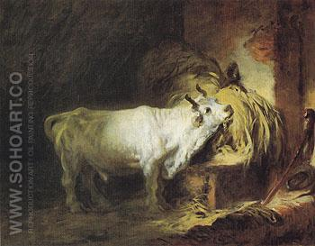 The White Bull - Jean-Honore Fragonard reproduction oil painting