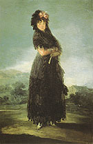 Portrait of Mariana Waldstein - Francisco de Goya ya Lucientes reproduction oil painting