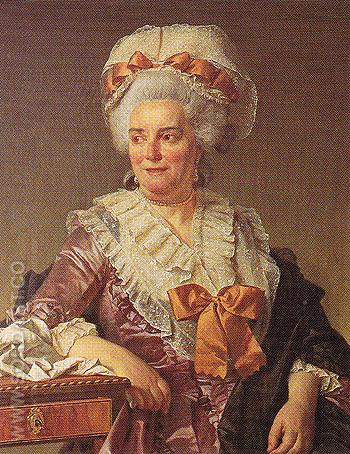 Madame Pecoul Mother in Law of the Artist 1784 - Jacques Louis David reproduction oil painting