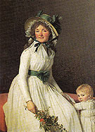 Emilie Seriziat nee Pecoul and Her Son Emil - Jacques Louis David