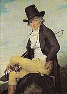 Pierre Seriziat Brother in Law of the Artist - Jacques Louis David reproduction oil painting