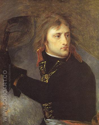 Bonaparte on the Bridge at Ancola on 17 November 1796 - Antoine Jean Gros reproduction oil painting