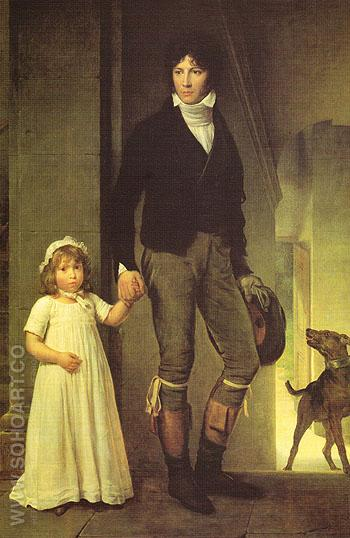Jean Baptist Isabey and His Daughter 1795 - Francois Gerard reproduction oil painting
