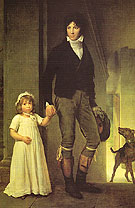Jean Baptist Isabey and His Daughter 1795 - Francois Gerard
