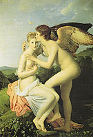 Amor and Psyche also Known as Psyche Receiving the First kiss of Love - Francois Gerard reproduction oil painting
