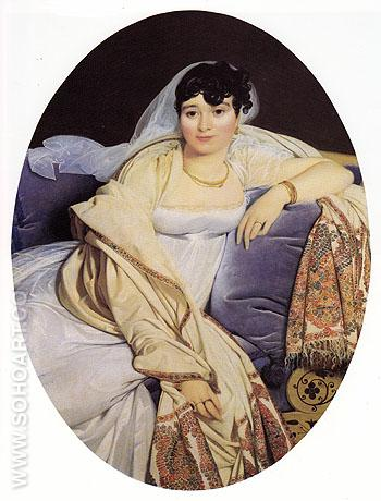 Madame Riviere - Jean-Auguste-Dominique-Ingres reproduction oil painting