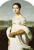 Mademoiselle Caroline Riviere 1805 - Jean-Auguste-Dominique-Ingres reproduction oil painting