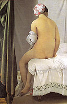 The Bather of Valpincon 1808 - Jean-Auguste-Dominique-Ingres reproduction oil painting