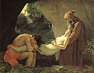 The Burial of Atala - Anne-Louis Girodet de Roucy-Trioson reproduction oil painting