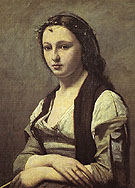 Woman with a Pearl - Jean-baptiste Corot reproduction oil painting