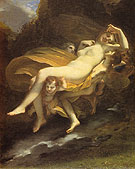 The Abduction of Psyche - Pierre Paul Prudhon reproduction oil painting