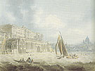 Somerset House from the Thames 1788 - Edward Dayes