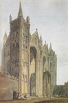 Peterborough Cathedral from the West Front c1794 - Thomas Girtin reproduction oil painting
