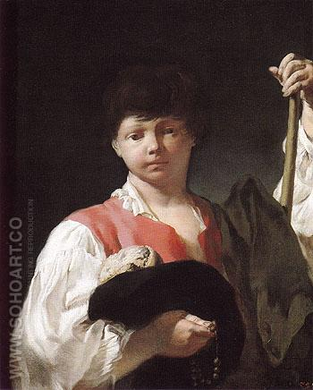 Beggar Boy1725 - Giovanni Battista Piazzetta reproduction oil painting