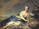 Mdame Henriette as Flora 1742 - Jean Marc Nattier The Younger reproduction oil painting