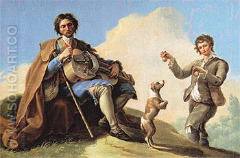 The Blind Singer c1786 - Ramon Bayeu Subias reproduction oil painting
